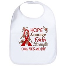 Hope Courage Faith AIDS Bib