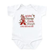 Hope Courage Faith AIDS Infant Bodysuit
