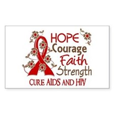 Hope Courage Faith AIDS Decal