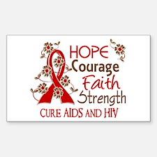 Hope Courage Faith AIDS Decal