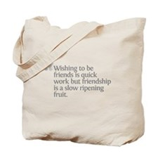 Aristotle Wishing to be frien Tote Bag