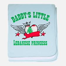Daddy's Little Lebanese Princess baby blanket