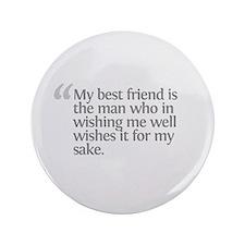 """Aristotle My best friend 3.5"""" Button"""