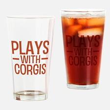 PLAYS Corgis Drinking Glass