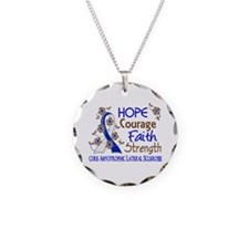 Hope Courage Faith ALS Necklace