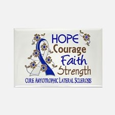 Hope Courage Faith ALS Rectangle Magnet