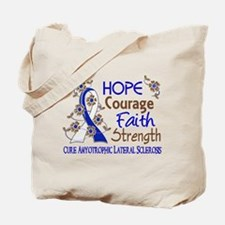 Hope Courage Faith ALS Tote Bag