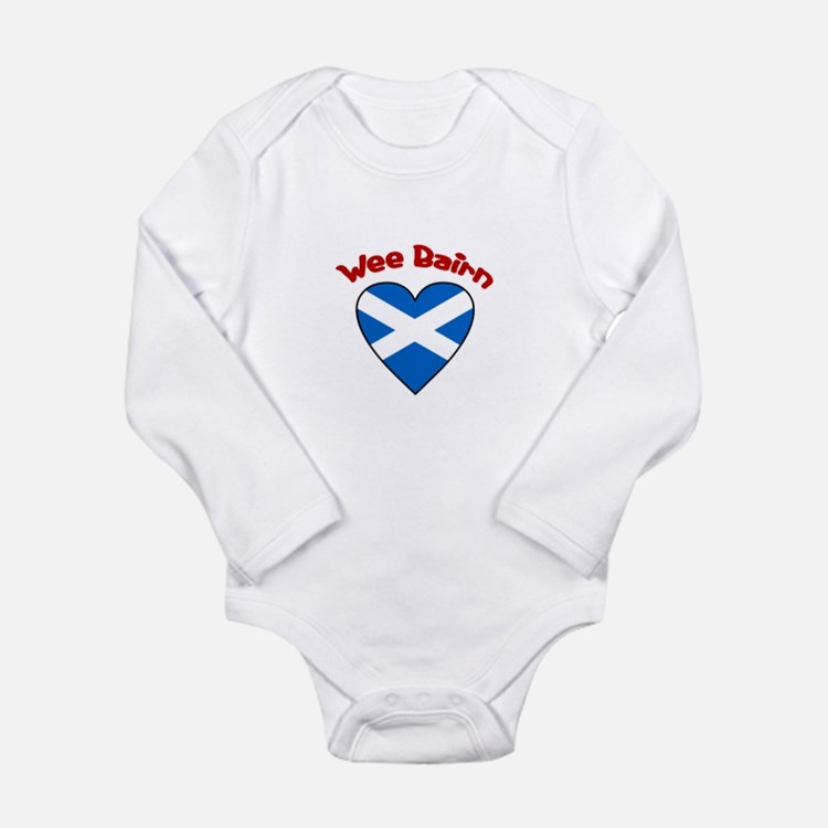 WeeBairn-Whbordertext-ScottishFlag Body Suit