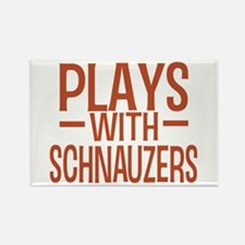 PLAYS Schnauzers Rectangle Magnet