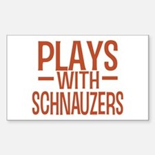 PLAYS Schnauzers Sticker (Rectangle)