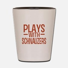 PLAYS Schnauzers Shot Glass