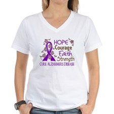 Hope Courage Faith Alzheimers Shirt