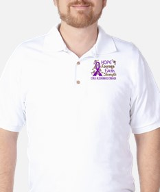 Hope Courage Faith Alzheimers Golf Shirt