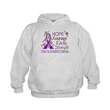 Hope Courage Faith Alzheimers Hoodie