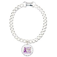 Hope Courage Faith Alzheimers Charm Bracelet, One