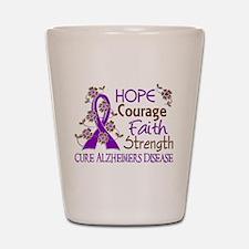 Hope Courage Faith Alzheimers Shot Glass