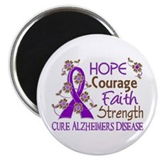Hope Courage Faith Alzheimers Magnet