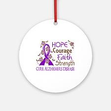 Hope Courage Faith Alzheimers Ornament (Round)