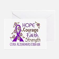 Hope Courage Faith Alzheimers Greeting Cards (Pk o