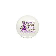 Hope Courage Faith Alzheimers Mini Button (100 pac