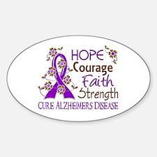 Hope Courage Faith Alzheimers Decal