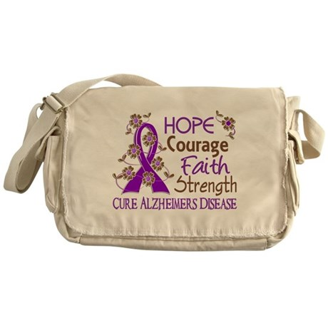 Hope Courage Faith Alzheimers Messenger Bag