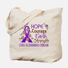 Hope Courage Faith Alzheimers Tote Bag