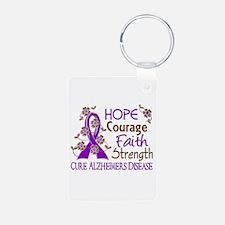 Hope Courage Faith Alzheimers Keychains