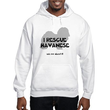 I RESCUE Havanese Hooded Sweatshirt