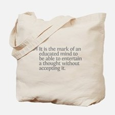 Aristotle It is the mark Tote Bag