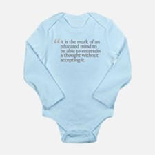 Aristotle It is the mark Long Sleeve Infant Bodysu