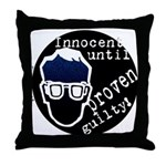 Presumed Innocent Throw Pillow