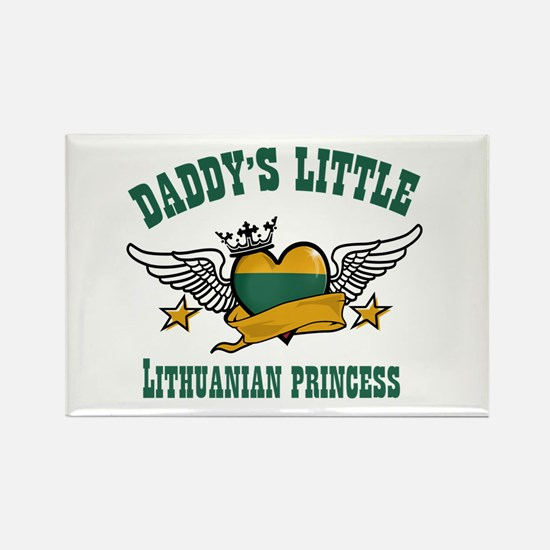 Daddy's Little Lithuanian Princess Rectangle Magne