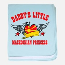 Daddy's Little Macedonian Princess baby blanket