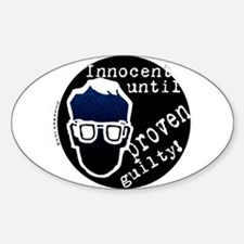 Presumed Innocent Oval Decal