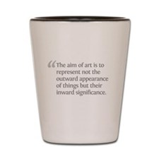 Aristotle The aim of art Shot Glass
