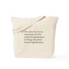 Aristotle The aim of art Tote Bag