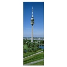 Germany, Munich, Olympic Tower Framed Print