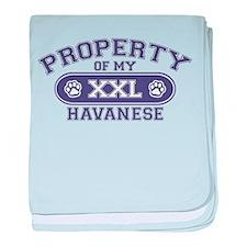 Havanese PROPERTY baby blanket