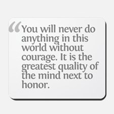 Aristotle You will never Mousepad