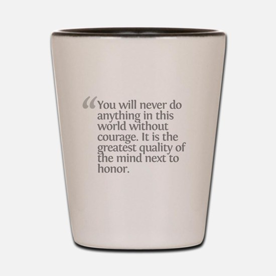 Aristotle You will never Shot Glass