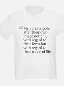 Aristotle Men create gods T-Shirt