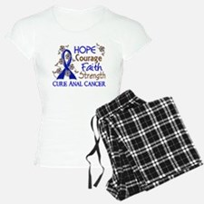 Hope Courage Faith Anal Cancer Pajamas