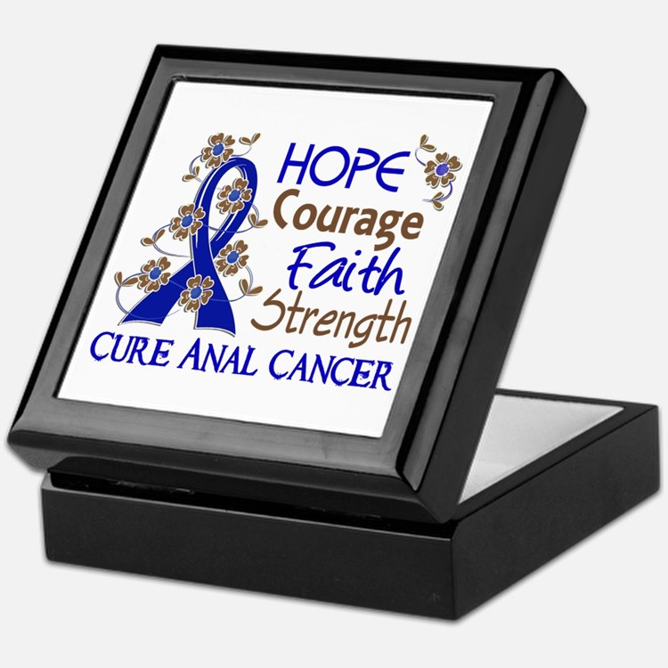 Hope Courage Faith Anal Cancer Keepsake Box