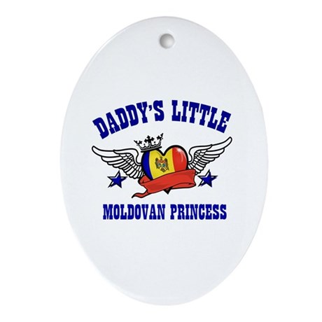 Daddy's Little Moldovan Princess Ornament (Oval)