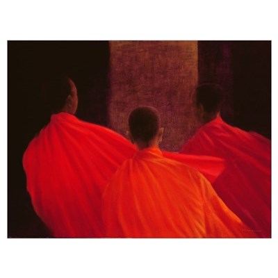 Four Monks (oil on canvas) Poster