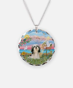 AngelStar/Shih Tzu#3 Necklace Circle Charm