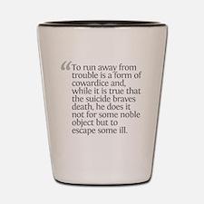 Aristotle To run away Shot Glass
