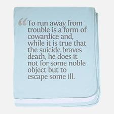 Aristotle To run away baby blanket