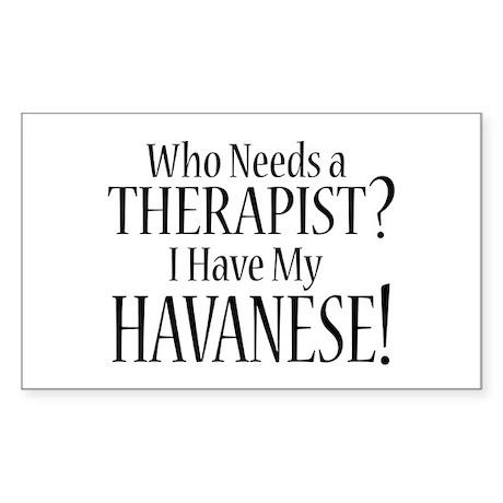 THERAPIST Havanese Sticker (Rectangle)